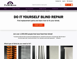 fixmyblinds.com screenshot