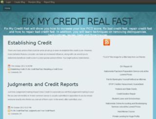 fixmycreditrealfast.blog.com screenshot