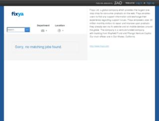fixya.zao.com screenshot