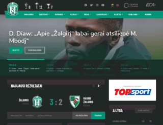 fkzalgiris.lt screenshot