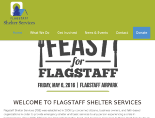 flagstaffshelterservices.org screenshot