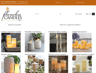 flamelesscandles.net screenshot