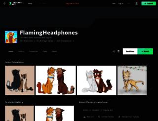 flamingheadphones.deviantart.com screenshot