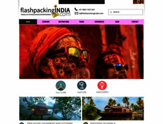 flashpackingindia.com screenshot