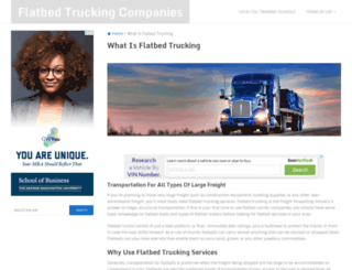 flatbedtruckingcompanies.org screenshot