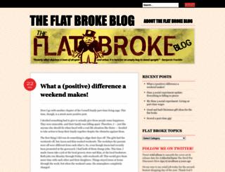 flatbrokeblog.wordpress.com screenshot