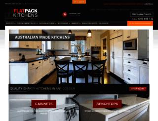 flatpackitchens.com.au screenshot
