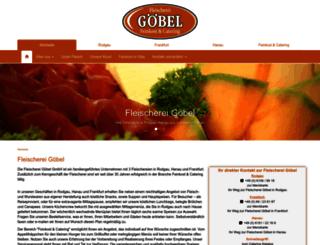 fleischerei-goebel.de screenshot