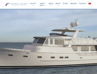 flemingyachts.com screenshot