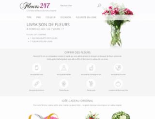 fleurs-247.fr screenshot
