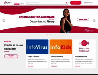 fleury.com.br screenshot