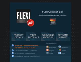 flexicommentbox.com screenshot