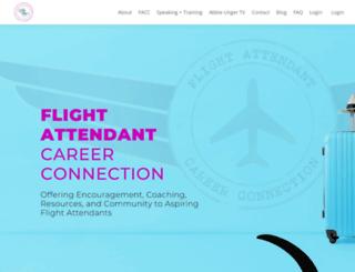 flightattendantcareerconnection.com screenshot