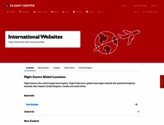 flightcentre.com screenshot
