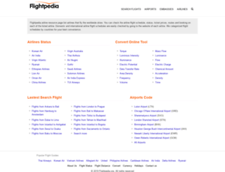 flightpedia.org screenshot