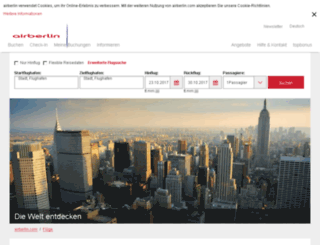 flights.airberlin.com screenshot