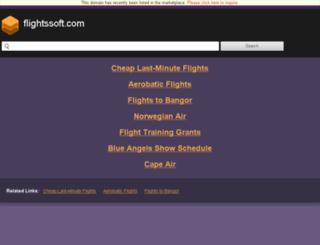 flightssoft.com screenshot