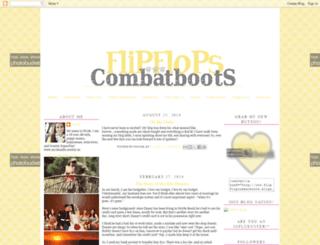 flipflopcombatboots.blogspot.com screenshot