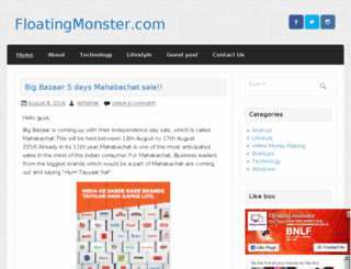 floatingmonster.com screenshot