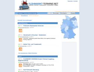 flohmarkt-termine.net screenshot