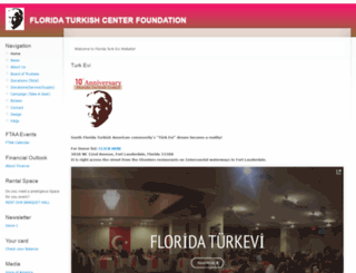 floridaturkishcenter.org screenshot
