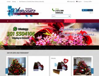 floristeriaagapanto.com screenshot