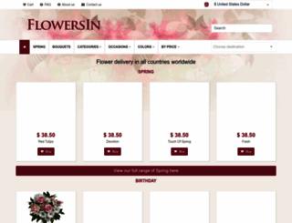 flowersin.com screenshot