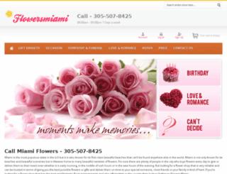 flowersmiami.net screenshot