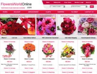 flowersworldonline.com screenshot