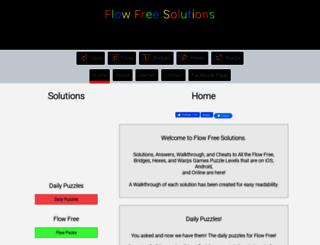 flowfreesolutions.com screenshot