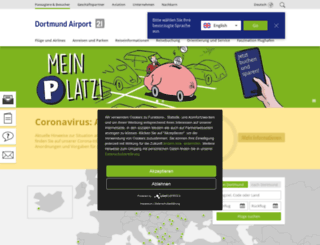 flughafen-dortmund.de screenshot