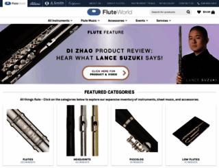 fluteworld.com screenshot