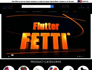 flutterfetti.com screenshot