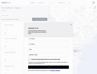 fly.surfair.com screenshot