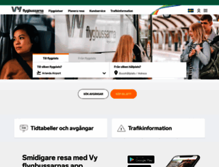flygbussarna.se screenshot