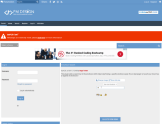 fmdesign.forumotion.com screenshot
