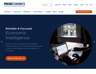 focus-economics.com screenshot