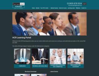 focusedlearning.hcrlaw.com screenshot