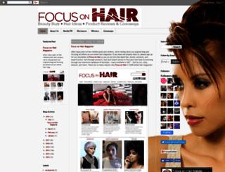 focusonhair.blogspot.com screenshot