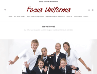 focusuniforms.com.au screenshot