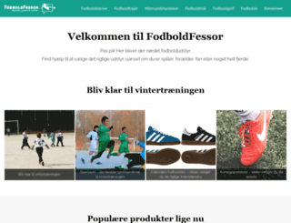 fodboldfessor.dk screenshot