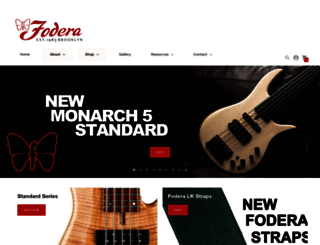 fodera.com screenshot