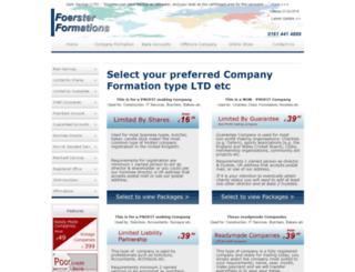 foersterformations.co.uk screenshot
