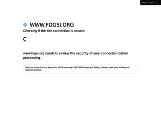 fogsi.org screenshot