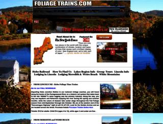 foliagetrains.com screenshot