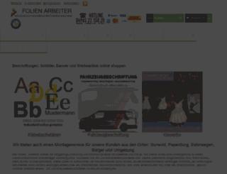 folien-arbeiter.de screenshot
