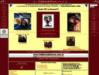 folkloredelnorte.com.ar screenshot