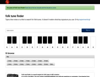 folktunefinder.com screenshot