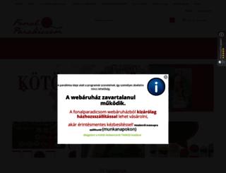 fonalparadicsom.hu screenshot