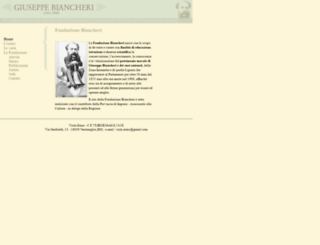 fondazionebiancheri.it screenshot